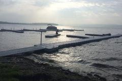 1000 Islands Docks Ltd. - Eastern Ontario - Large Commercial Floating Modular Dock Installation Image at Bellemere Wind Resort