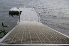 1000 Islands Docks Ltd. - Eastern Ontario - Residetial Floating Modular Dock Installation with Gangway RampImage