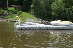 1000 Islands Docks Ltd. - Eastern Ontario - Residetial Floating Modular Dock Installation with Jet Ski Image